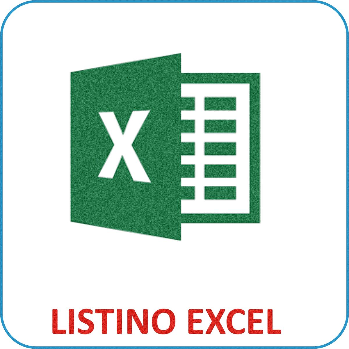 Listino formato EXCEL